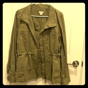 J Crew Olive Green Utility Jacket